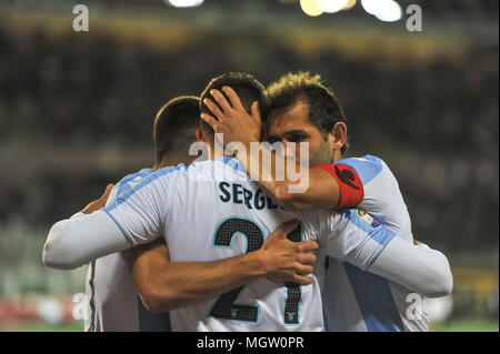Turin, Italy. 29th Apr, 2018. during the Serie A football match between Torino FC and SS Lazio at Stadio Grande Torino on 29th April, 2018 in Turin, Italy. Credit: FABIO PETROSINO/Alamy Live News