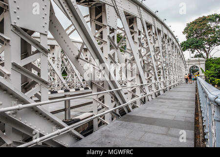 Anderson Bridge (Fullerton Road), Singapore - Stock Photo