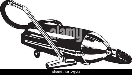 Vacuum Cleaner - Retro Clipart Illustration - Stock Photo