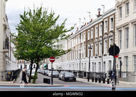 Terraced houses in Ponsonby Terrace Pimlico London England UK - Stock Photo
