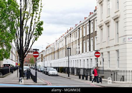 Terraced houses in Ponsonby Place Pimlico London England UK - Stock Photo
