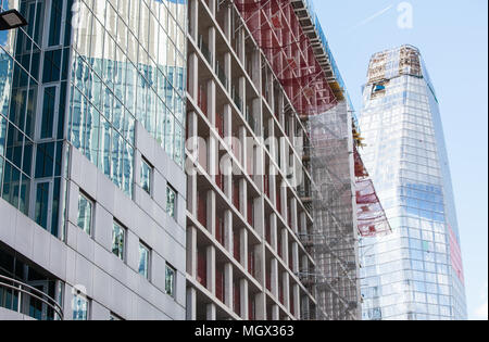 New,build,Construction,of,One Blackfriars, Blackfriars One,building,nearing,end,of,construction,phase,London,Great,Britain,GB,UK,U.K.,Europe,European, - Stock Photo
