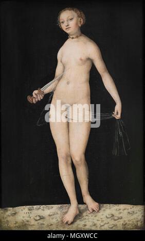 Lucas Cranach the Elder (1472–1553), Lucretia, 1533. - Stock Photo