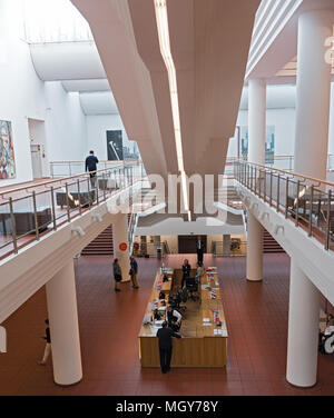 entrance area with cashier and information museum ludwig, cologne, germany - Stock Photo