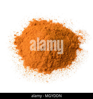 Heap of Cayenne pepper isolated on white background - Stock Photo