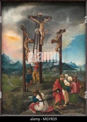 Albrecht Altdorfer (ca. 1480-1538), Crucifixion / Christ on the Cross Between the Two Thieves, ca 1526. Christus am Kreuz zwischen den Schächern. - Stock Photo