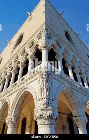 Doge's Palace, Saint Marks Square, Venice, Italy - Stock Photo