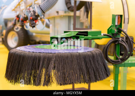 Street cleaning machine. Machine for cleaning streets. Exhibition sample - Stock Photo