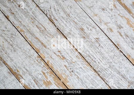 Textured wooden background in white paint diagonal panels - Stock Photo