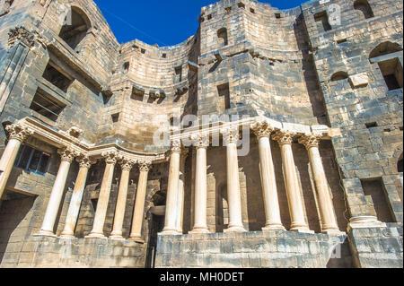 Roman Theatre at Bosra ,  an ancient Roman theatre in Bosra, Syria. - Stock Photo