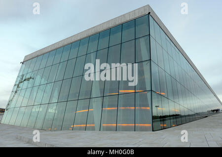 Exterior view of Opera House in Oslo, Norway - Stock Photo