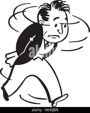 Worried Man - Retro Ad Art Illustration