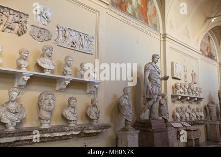 Room full of Greek busts at the vatican - Stock Photo