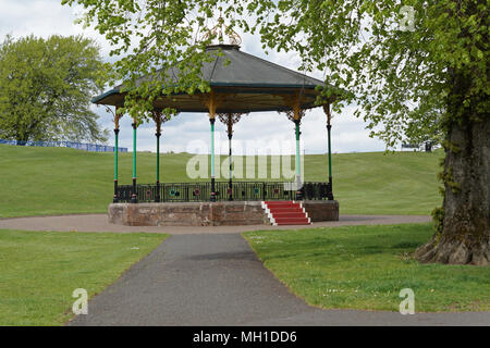 Strathaven Park Bandstand, John Hastie Park, South Lanarkshire on a Sunny Day - Stock Photo