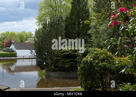 Strathaven Park, John Hastie Park, South Lanarkshire on a Sunny Day - Stock Photo