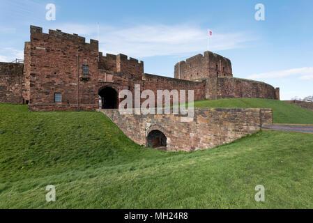 The gatehouse, Carlisle Castle, Cumbria, UK - Stock Photo