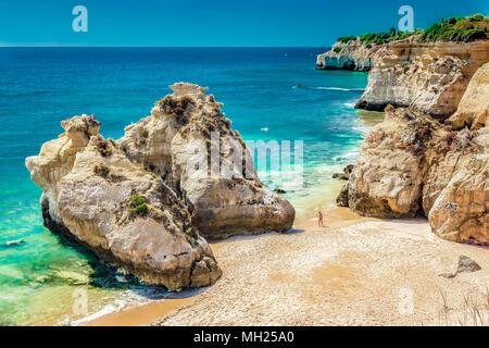 Portugal - Algarve - Praia dos Beijinhos - Stock Photo