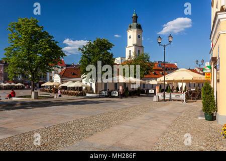 Late Baroque town hall in Bialystok, Podlasie, Poland, Europe. - Stock Photo