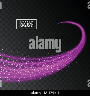 Abstract shiny pink light effect texture on transparent background. Vector illustration. - Stock Photo