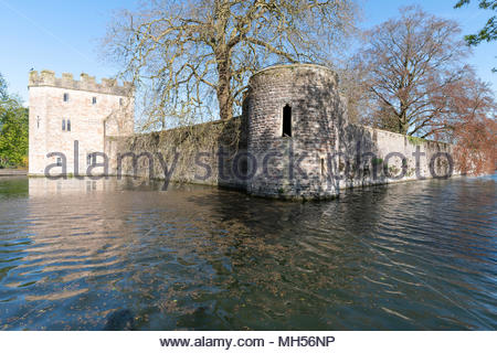 Bishops Palace, Wells, Somerset, England UK. - Stock Photo