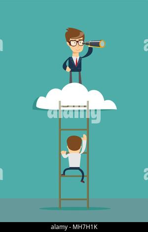 Business leadership vector concept - Stock Photo