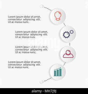 Business infographic template. - Stock Photo