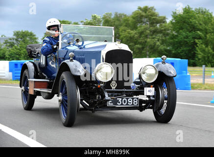Vintage and classic cars at the Brooklands Double Twelve, 2012 - Stock Photo