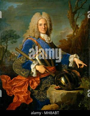 Philip V (1683 – 1746) King of Spain. Portrait by Jean Ranc, 1723 - Stock Photo
