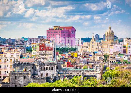 Havana, Cuba downtown skyline. - Stock Photo