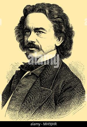 Albert Emil Brachvogel (born April 29, 1824, died November 27, 1878), - Stock Photo