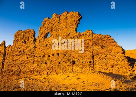 Ruins of the Nadora Temple in the Kharga Desert of Egypt