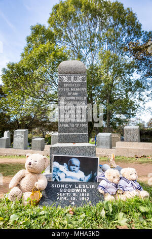 Titanic Cemetery. Place in the city of Halifax in Canada where the victims of the shipwreck were buried. - Stock Photo