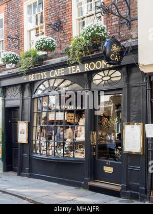 Bettys Tea Room on Stonegate in York Yorkshire England - Stock Photo