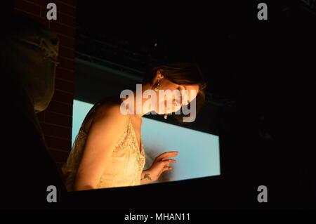 irina titova queen of sand sandstation in 80 bildern um die welt goerlitz kulturbrauerei - Stock Photo