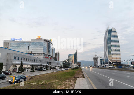 Construction of new buildings in Tsarigradsko Shose, Sofia, Bulgaria - Stock Photo