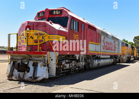 Railroad Station and Museum, Route 66, Barstow, California, - Stock Photo