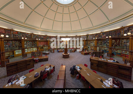 Interior of the Picton Reading Room in Liverpool's Central Library - Stock Photo