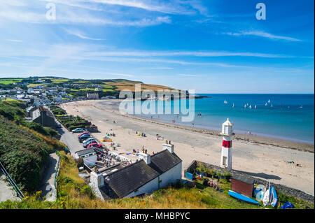 Beach of Port Erin, Isle of Man, United Kingdom - Stock Photo