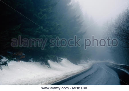 Snow-covered country - Stock Photo