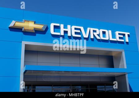 Lafayette Circa April 2018 Chevrolet Automobile Dealership With
