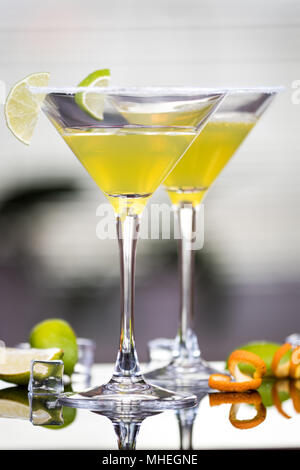 Alcohol cocktail Daiquiri with rum and lime - Stock Photo