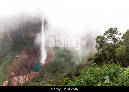 Nohkalikai Falls, Cherrapunji, Meghalaya, India - Stock Photo