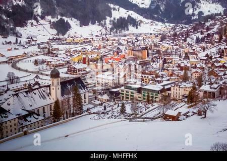 Engelberg Village, Switzerland - Stock Photo