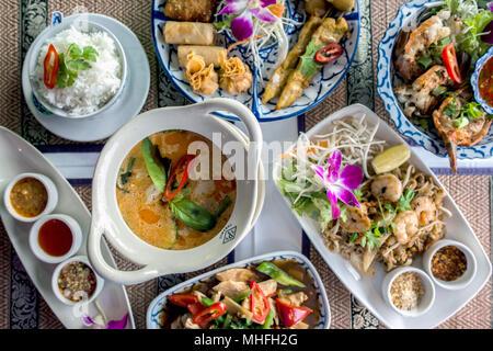 Thai Food in a Restaurant - Stock Photo