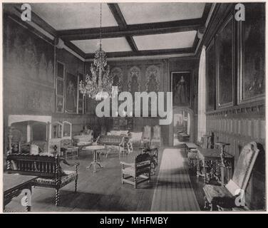 Queen Elizabeth's Room in Penshurst Place was made ready for her when she was about to pay a visit to Sir Henry Sidney, and sin… - Stock Photo