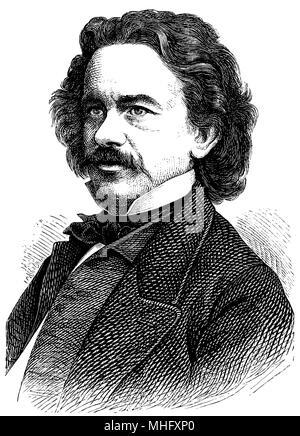 Albert Emil Brachvogel (born April 29 1824, died November 27, 1878), - Stock Photo