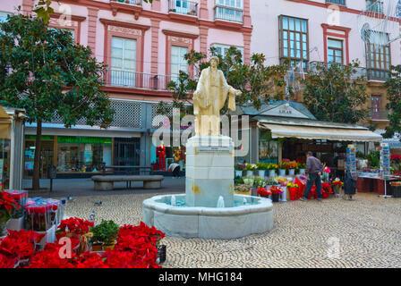 Plaza de Las Flores, Cadiz, Andalucia, Spain - Stock Photo