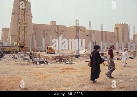 The Qasr Al Masmak in central Riyadh, the historic mud-brick fort built around 1865. - Stock Photo