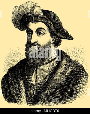 Francis I, King of France (b. September 12, 1494, died 31 March 1547),, - Stock Photo
