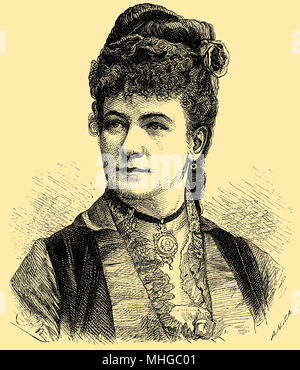 Marie Gesitinger (born July 26, 1828 ), - Stock Photo